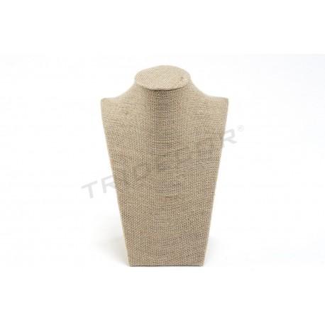 Expositor collares, lino grueso 21.5x15x9 cm, tridecor