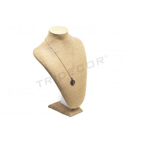 Expositor de collares, lino grueso 23x16.5x10 cm, tridecor