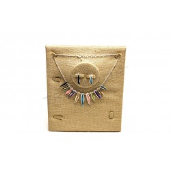 EXHIBITOR FOR JEWELRY LINEN THICK 25X20X10 CM