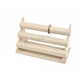 Expositor para pulseras, lino grueso, 3 alturas 42x17x26 cm, tridecor