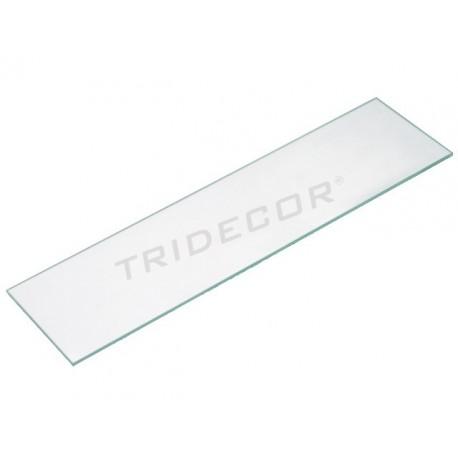 Vidro transparente para abrigo rack 61x30 cm