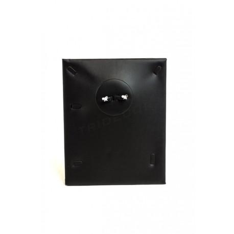 Expositor joyería para conjunto, polipiel negro, tridecor