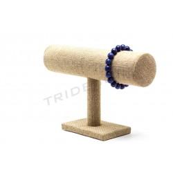 Expositor pulseras, lino grueso 23x6 cm, tridecor