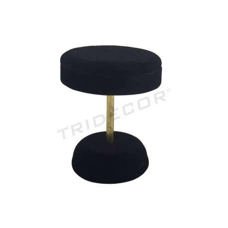 BEDSIDE TABLE FOR JEWELRY, AND BLACK VELVET