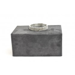 RECTANGLE POUR LES BIJOUX, DE VELOURS GRIS