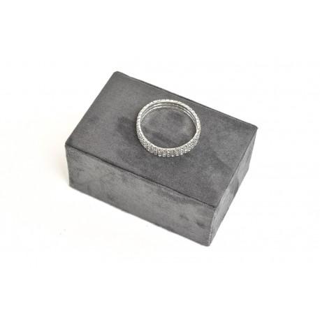 矩形珠宝首饰的,灰色的天鹅绒