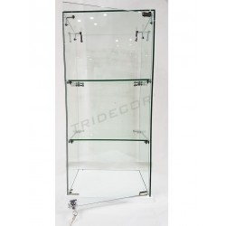 DISPLAY CASE WITH WHITE BASE. 86X40X30CM