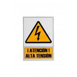 Cartaz de alta tensão de 21x30cm, tridecor