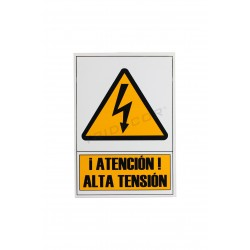 Poster high voltage 21x30cm, tridecor