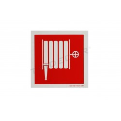 Cartel manguera de incendios. 21x21 cm, tridecor