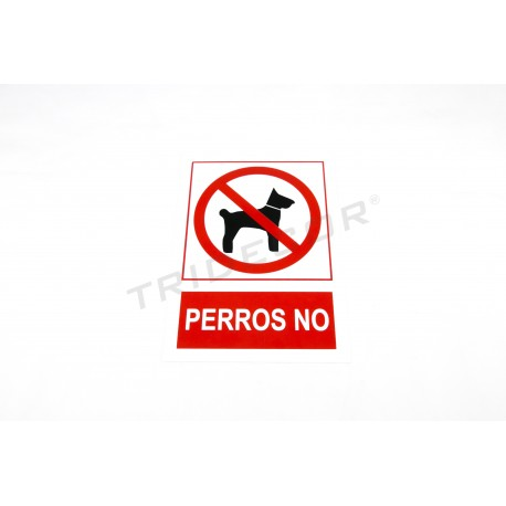 Poster banned dogs red/white 21x30cm