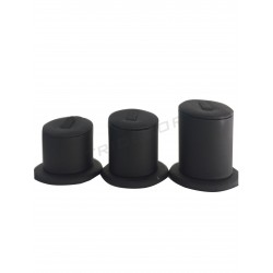 EXPOSITORE FOR RINGS TO 3 HEIGHTS, WITH BLACK SYNTHETIC LEATHER