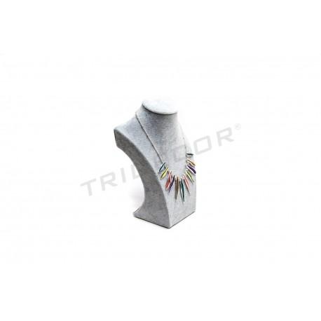 EXHIBITOR GREY FOR NECKLACES 30x18.5x10 CM