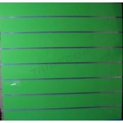2 UNIDADES PANEL DE LAMAS LACADO EN VERDE 120X120CM  7,5 GUÍAS.