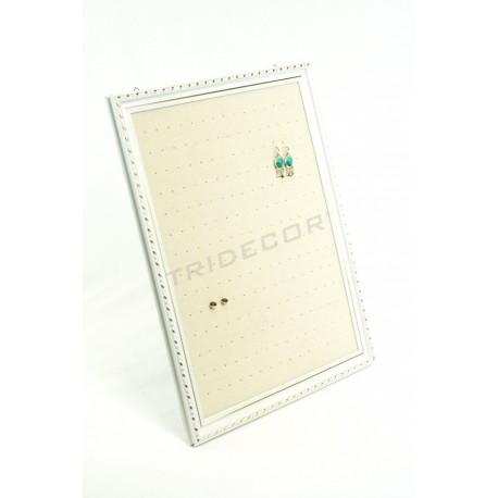MARCO GRANDE PARA PENDIENTES, LINO BEIGE 50X60 CM