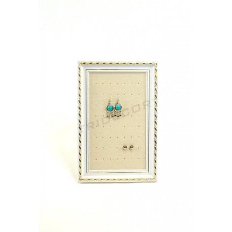 Marco pequeño para pendientes, lino beige 25x30 cm, tridecor