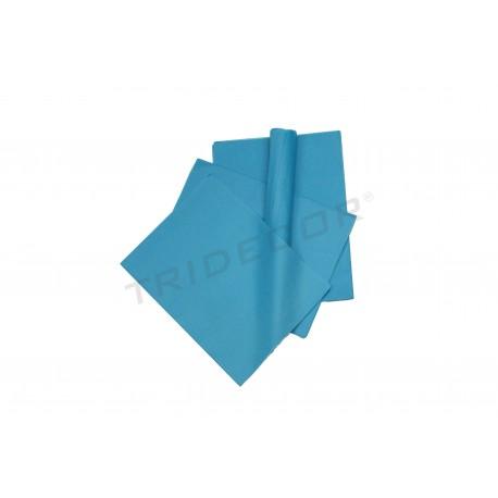Paper de seda de color blau 75x50cm 100 unitats