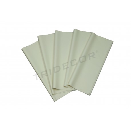 Papel de seda branco 62x86cm 100 unidades