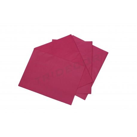 Paper de seda de color magenta 75x50cm 100 unitats