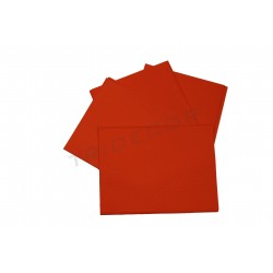 Papel de seda laranja 75x50cm 100 unidades