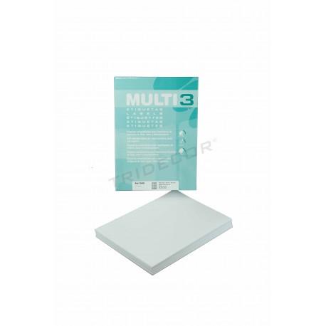Pegatinas blancas 38x21.2mm
