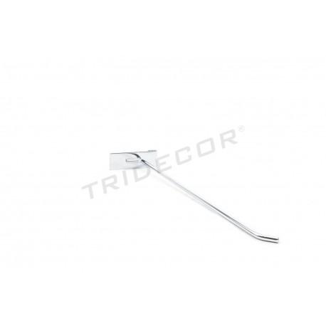 001016 Gancho colgador para reja expositora 40cm 6mm