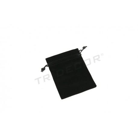 BAG BLACK VELVET 12X9 CM 20 UNITS