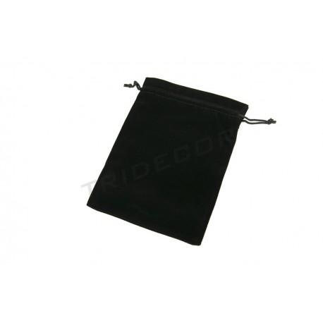 Bolsa terciopelo negro, 19x14 cm. 20 uds. tridecor