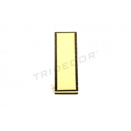 Expositor vertical para pulseras, polipiel vainilla y chocolate, tridecor