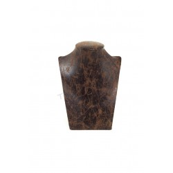 EXHIBITOR FOR NECKLACES, IMITATION LEATHER BROWN