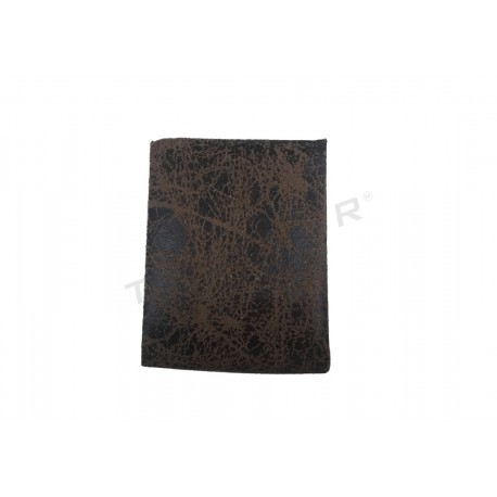 EXHIBITOR FOR EARRINGS, SYNTHETIC LEATHER BROWN