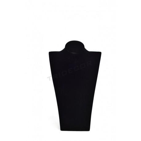 Expositor joyeria para collares, terciopelo negro. tridecor