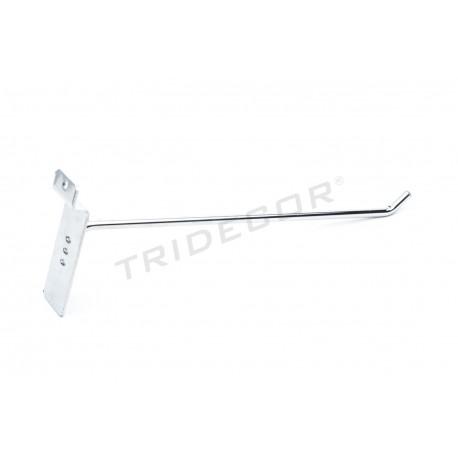 001005 Gancho colgador para panel de lamas 25 cm 6 mm. Tridecor