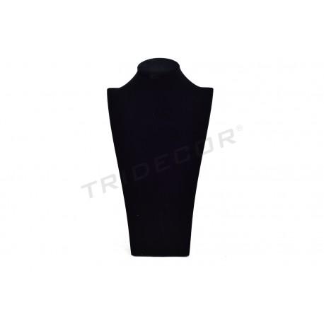 Expositor para collares, terciopelo negro