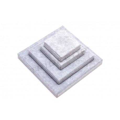 Expositor multiusos terciopelo gris
