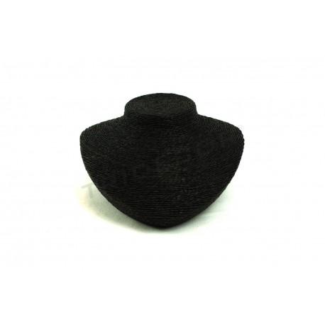 Expositor per a collars, vestits de negre corda