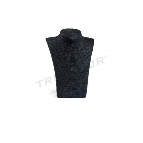 Expositor para collares, revestido en cuerda negra