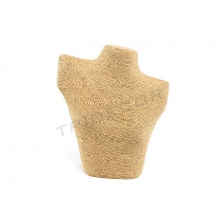 Expositor para collares beige, revestido en cuerda
