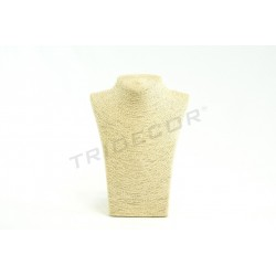 EXHIBITOR FOR NECKLACES PLATED IN ROPE BEIGE