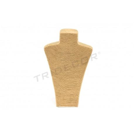 Expositor para collares revestido en cuerda, color avana
