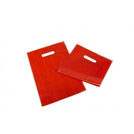 红色的袋模切处理25X35厘米100个单位