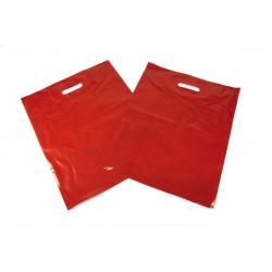 RED BAG DIE CUT HANDLE 40X50 CM 100 UNITS
