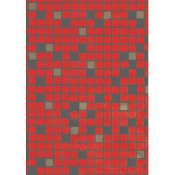 Papel de regalo cuadros fondo rojo 62cm
