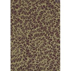 Gift paper brown patterned golden 62cm