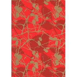 PAPER GIFT BRANCHES RED BACKGROUND 62 CM