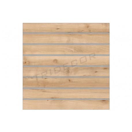Panell de lames de bedoll 120x120 cm Tridecor