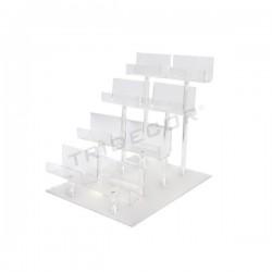 Expositor acrilico para 8 monederos, 4 alturas