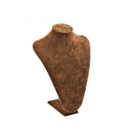 Expositor de collares terciopelo marrón 36x26x13 cm, tridecor