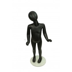 MANNEQUIN CHILD WITHOUT FACTION MATTE BLACK, 4-6 YEARS
