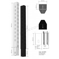 Extension to column zipper 60 cm, tridecor